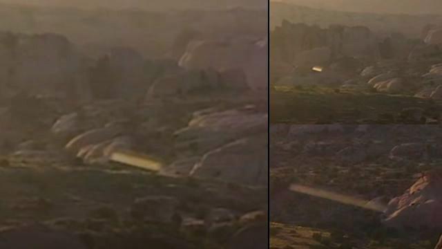Drone caught two UFO Fastwalkers over Moah, Utah  Ufo%2Bfastwalker