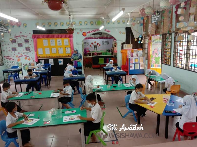 suasana pembukaan semula prasekolah malaysia