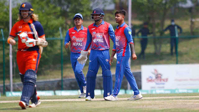 Nepal overwhelms Netherlands to clinch Tri-Nations T20I series trophy