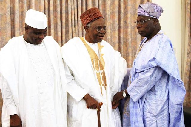 Former Pres. Obasanjo visits former Pres. Shagari, Tambuwal and Sultan of Sokoto