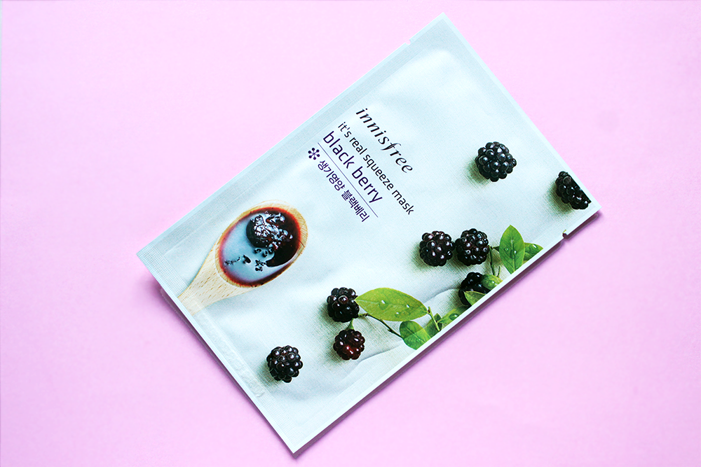 Innisfree It's Real Squeeze Mask Blackberry review