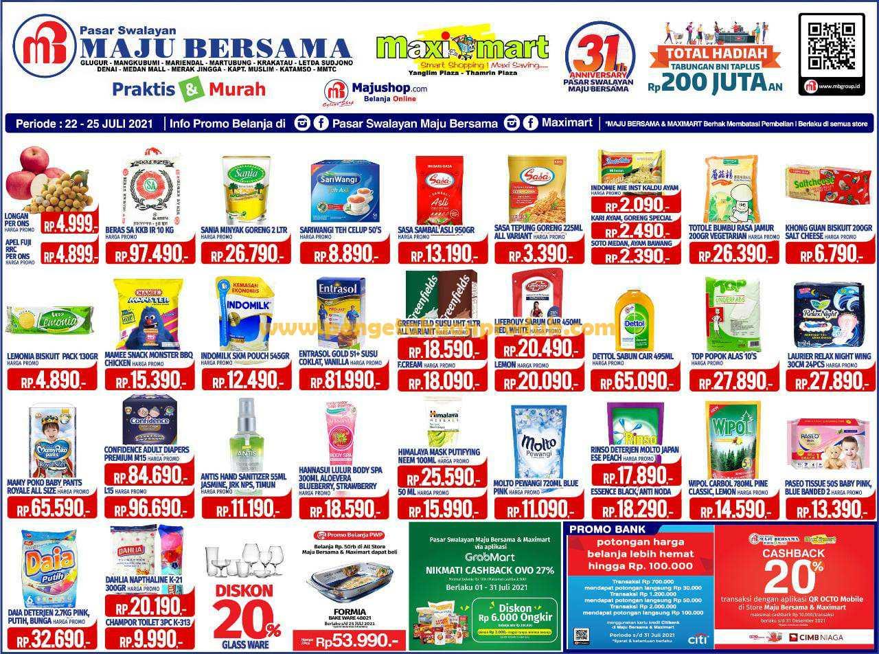 Katalog Promo Maximart Periode 22 - 25 Juli 2021