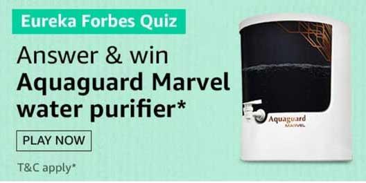 Amazon Eureka Forbes Aquaguard Marvel Water Purifier. Eureka Forbes Aquaguard Marvel Water Purifie. Amazon Eureka Forbes Quiz Answers Win Aquaguard Marvel