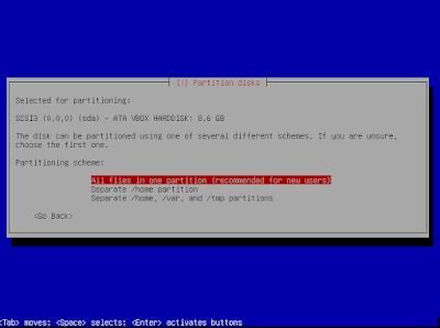 Pilih Allfile in one partition biar mudah bagi yang masih pemula