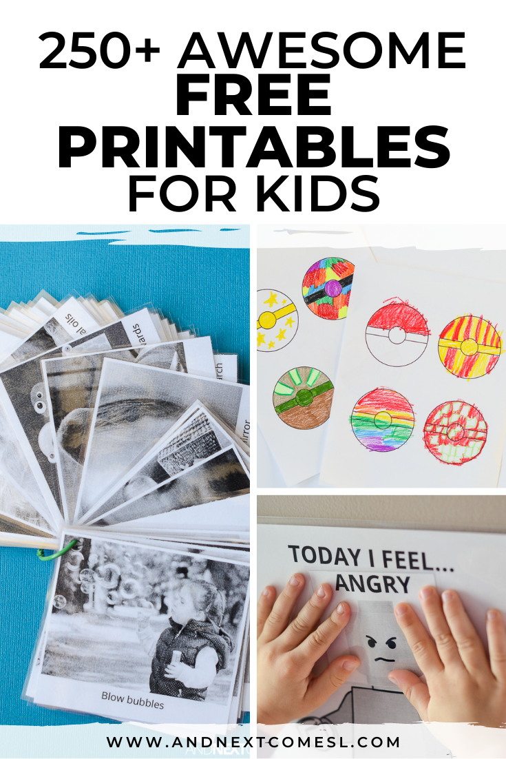 Free printables for kids: I spy games, Pokemon printables, social stories, social scripts, emotion printables, graphic organizers, and so much more!