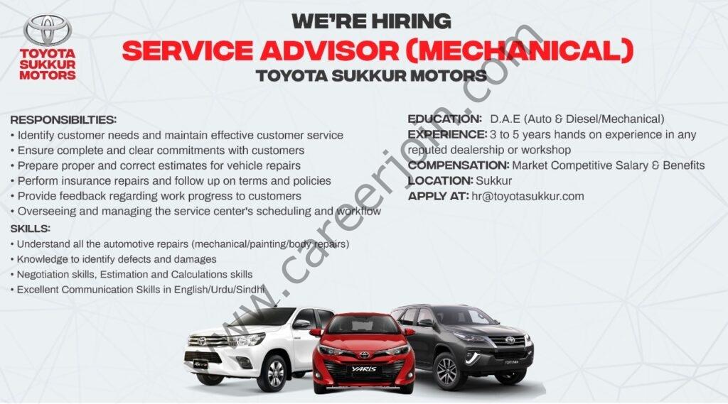 hr@toyotasukkur.com - Toyota Sukkur Motors Jobs 2021 in Pakistan