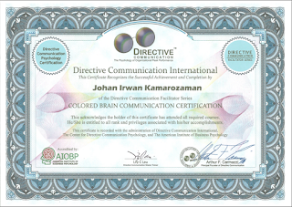 Certified Directive Communication - Colored Brain Communication