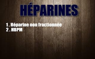 Héparine non fractionnée HBPM