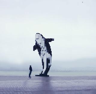 Fotomontaje de ballena asesina -Willy