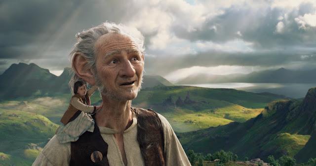 "Ruby Barnhill and Mark Rylance, in Steven Spielberg's ""The BFG"""