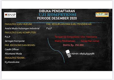 Uji Kompetensi Desember 2020