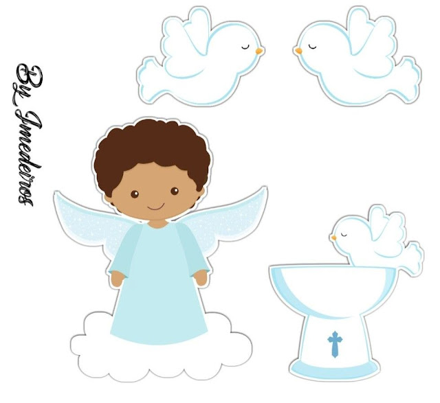 Afro Angel: Free Printable Toppers.