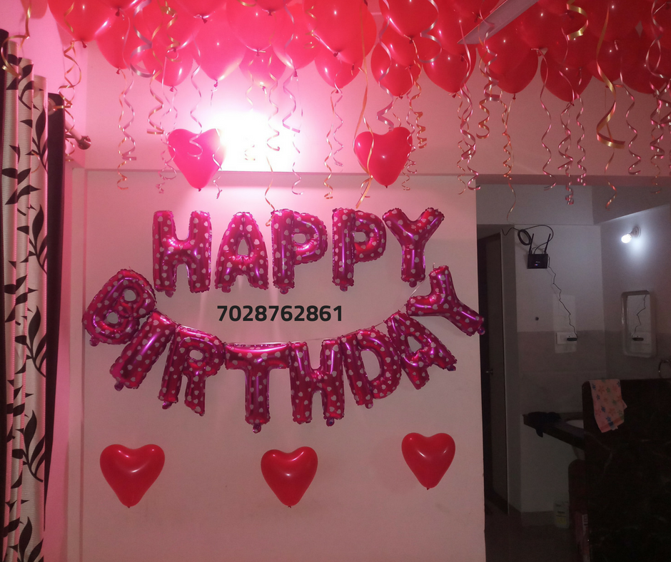 Romantic Room Decoration For Surprise Birthday Party In Pune: Surprise Room Decoration In Pune