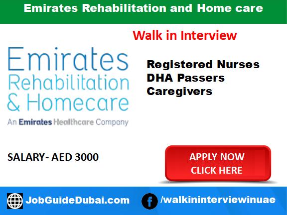 Emirates Rehabilitation and Home care career for Nurse, DHA Passers and Caregivers job in Dubai