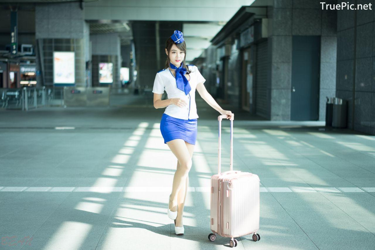 Image-Taiwan-Social-Celebrity-Sun-Hui-Tong-孫卉彤-Stewardess-High-speed-Railway-TruePic.net- Picture-1