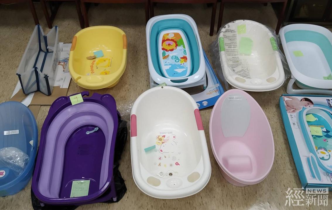 嬰兒用浴盆檢測結果照片