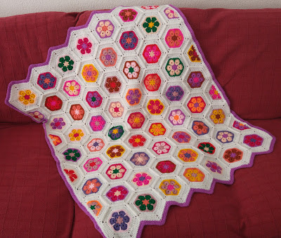 African flower hexagon baby blanket