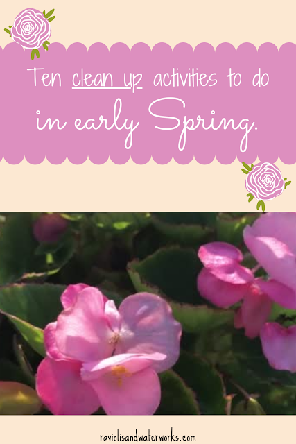 spring time clean up; getting ready for spring; spring cleaning; setting up your house for spring; spring clean checklist