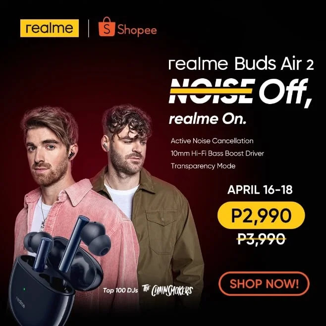 realme Buds Air 2 with Active Noise Cancellation and 10mm Driver Unveils in PH for Only Php2,990