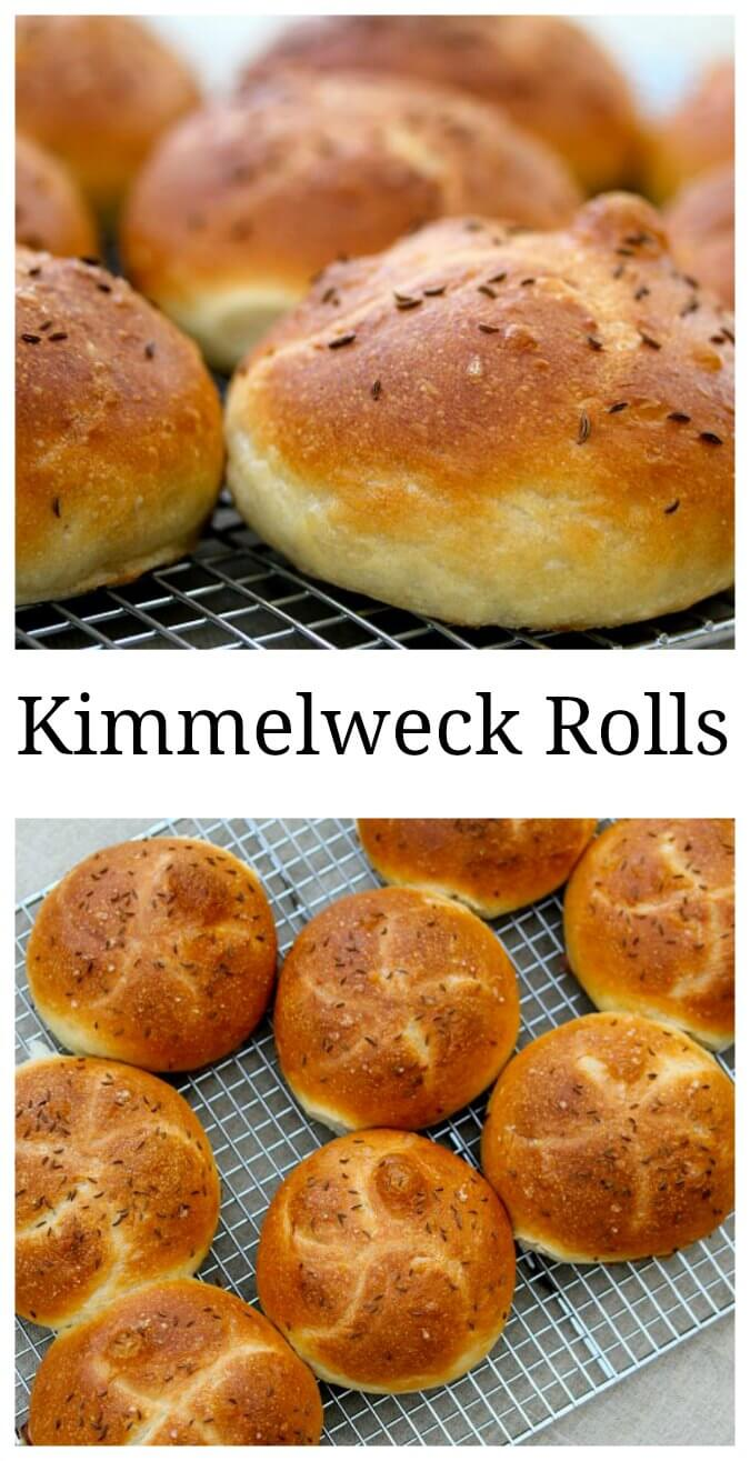 Kimmelweck rolls close up