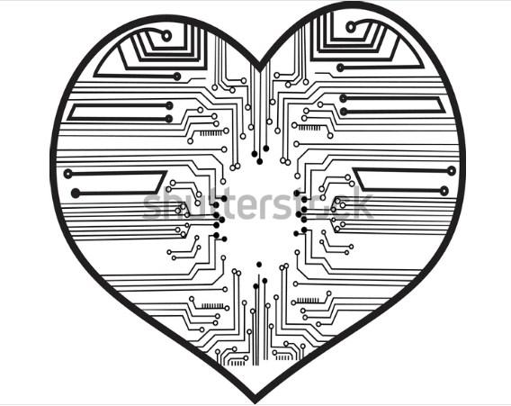 illustration line art design ELECTRO LOVE