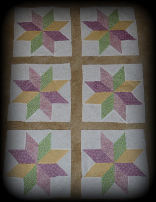 Lemoyne star baby quilt blocks