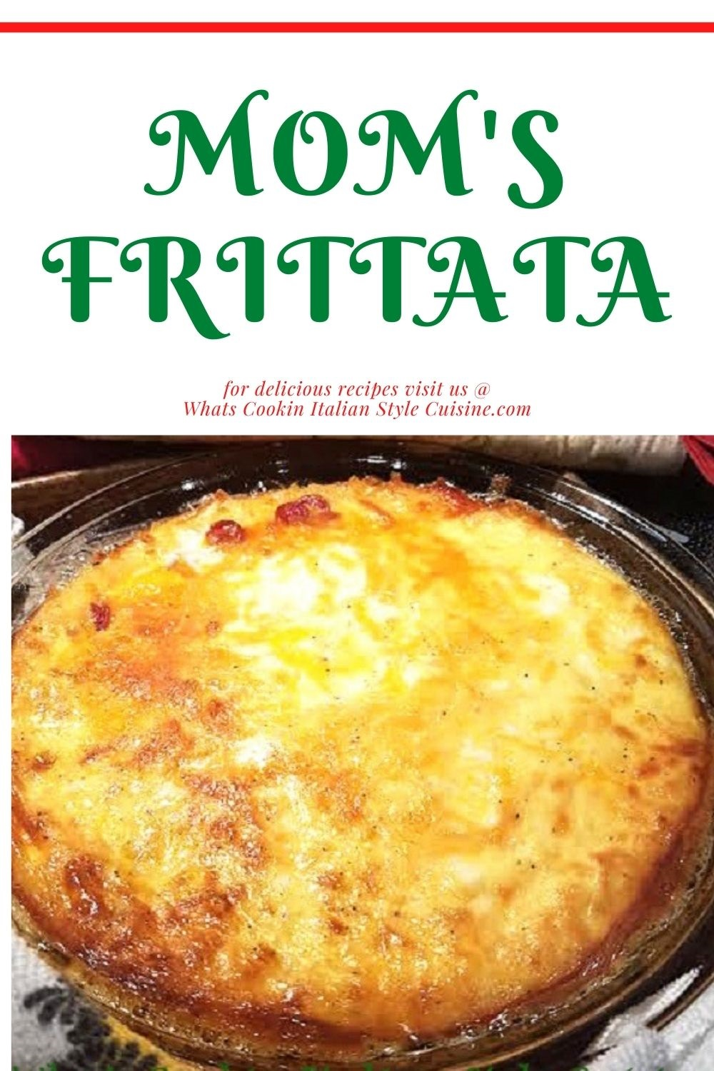 this is a pin for later for Italian frittata baked with potato and egg