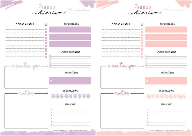 Primeiro modelo nas cores: lilás e rosa