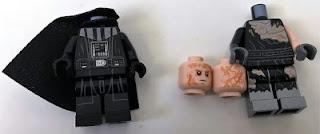 lego star wars 75183 darth vader transformation Darth Vader and Anakin Skywalker minifigures