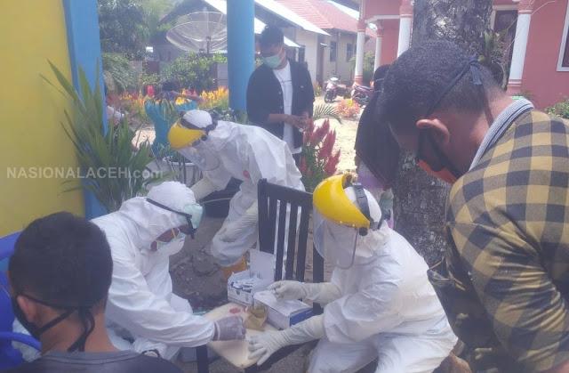 Cegah Penularan Corona, 27 Orang Warga di Abdya Jalani Rapit Tes
