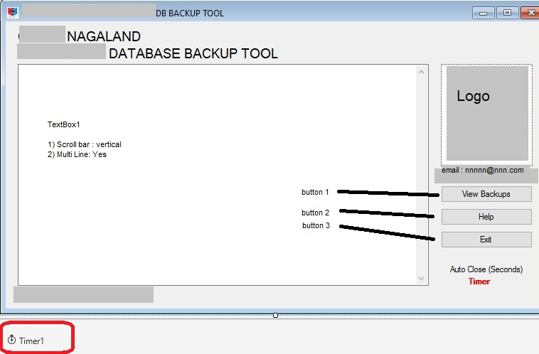 VB NET Example Code to backup MySQL Database using mysqldump