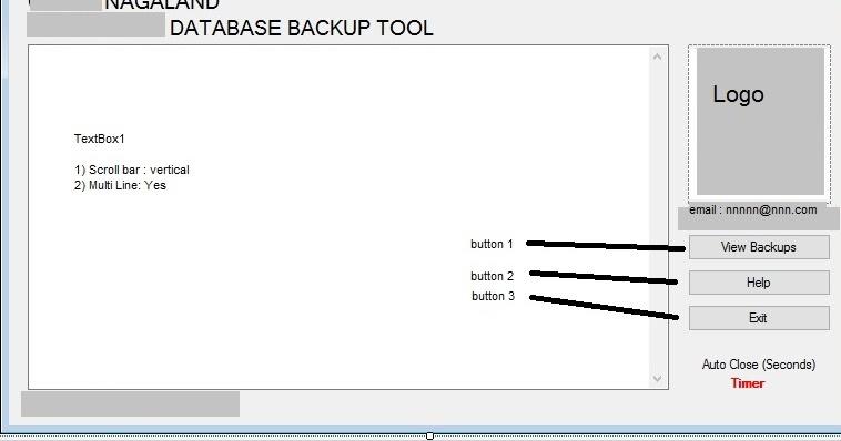VB NET Example Code to backup MySQL Database using mysqldump command
