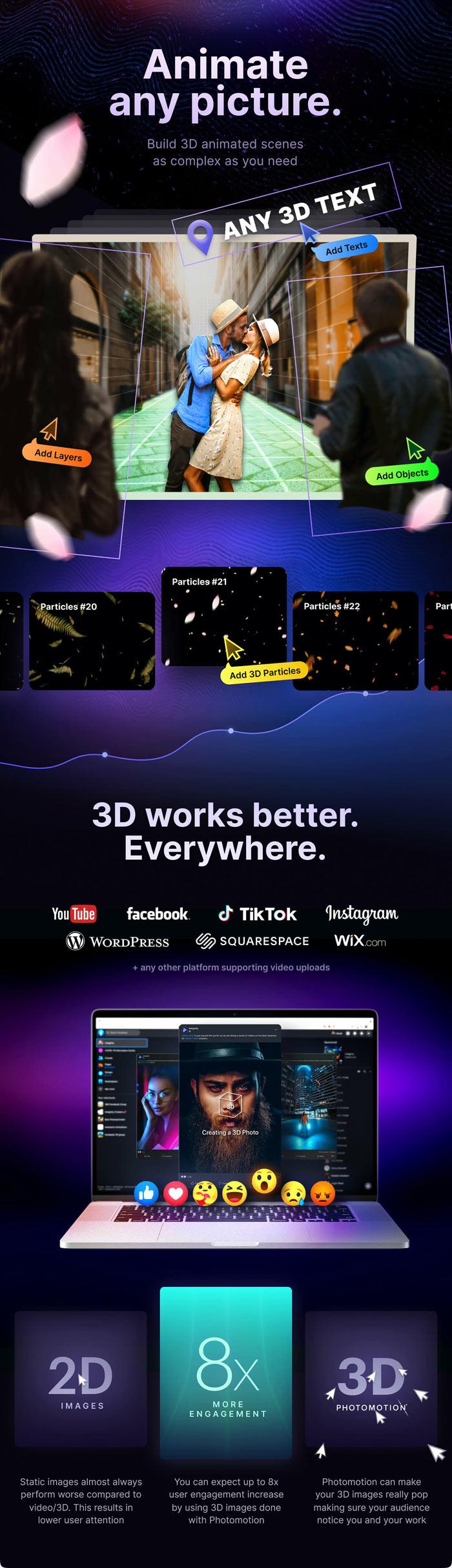 Photomotion 3D Photo Animator 6 in 1