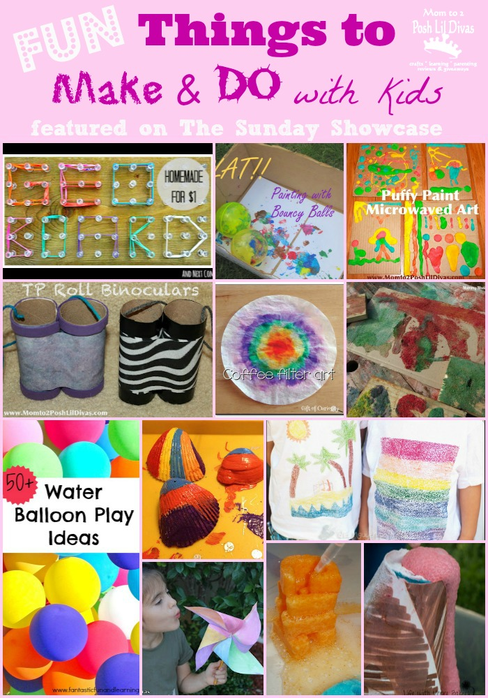 Mom To 2 Posh Lil Divas Fun Things To Make And Do With Kids The