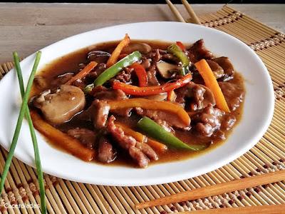 Receta fácil de ternera con verduras al estilo chino