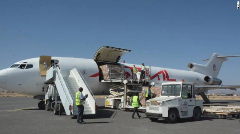 world news: Planes carrying vaccines and  aid arrived Saturday in war-torn Yemen.
