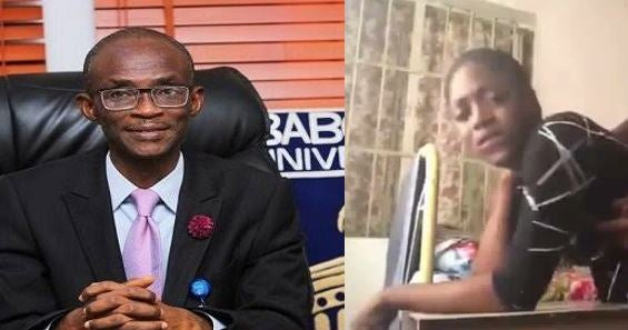 """Reason of the  Dismissed of S*x Tape Student"" — Babcock VC revealed"