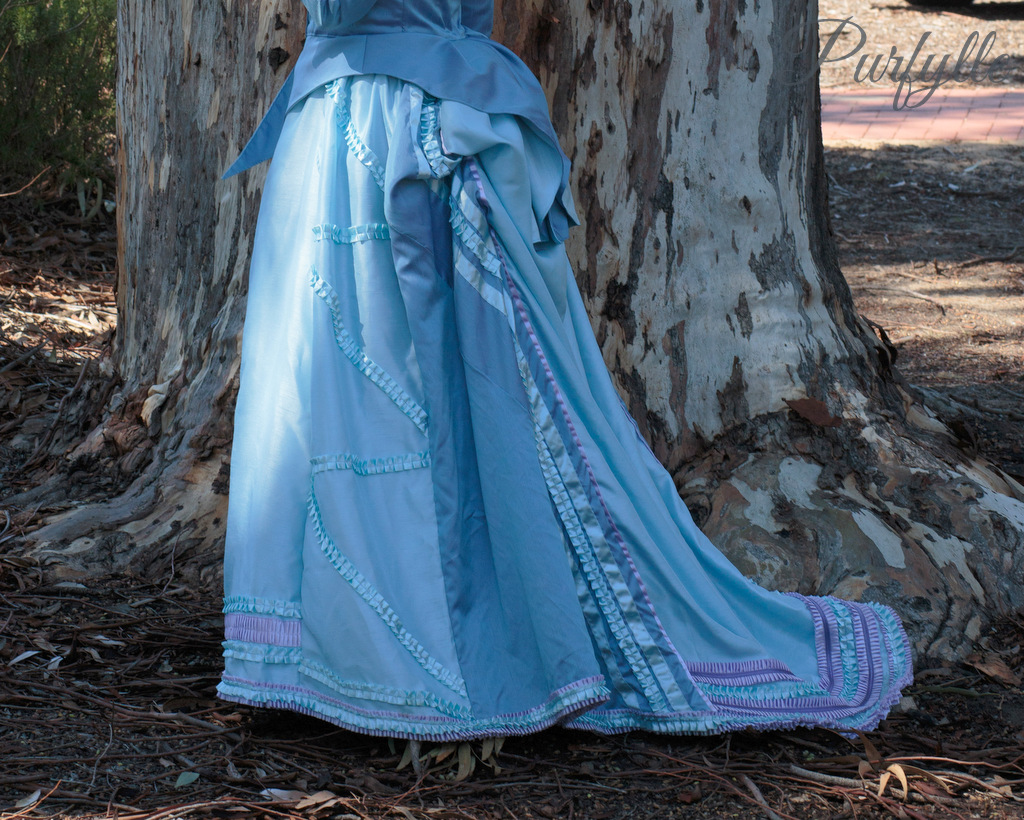 left side of skirt -1870 costume