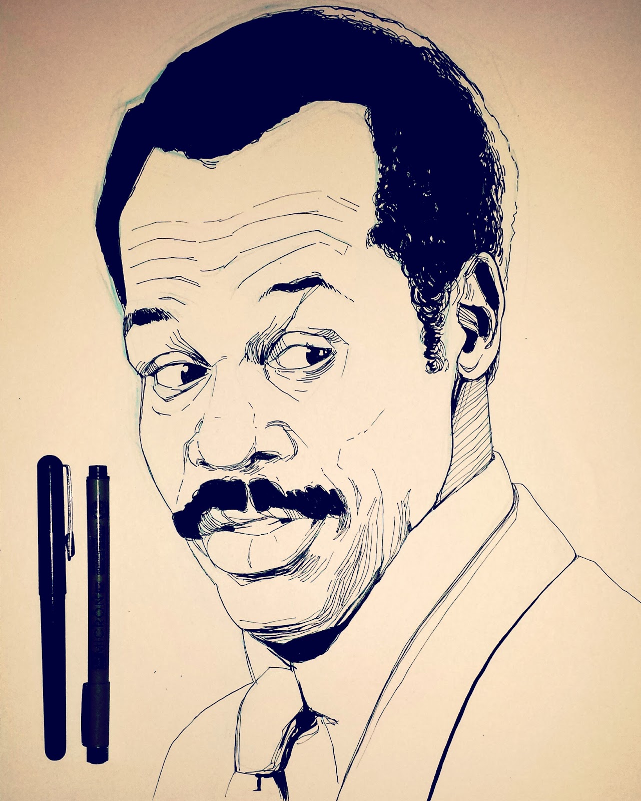 Lethal Weapon Danny Glover drawing