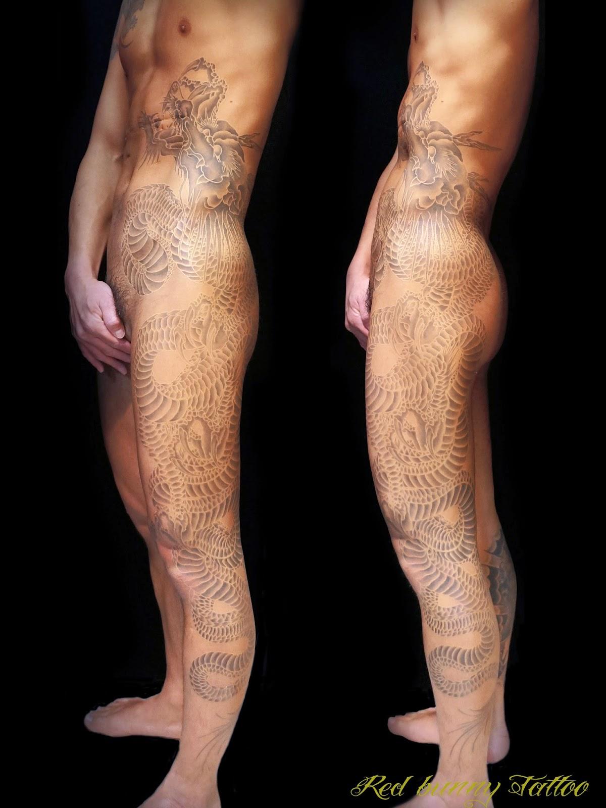 タトゥー tattoo  入れ墨 刺青  あかつき 龍 dragon