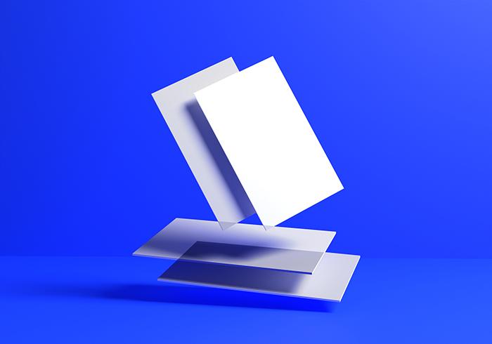 Logo Mockup White Textured Paper Background 3D Rendering