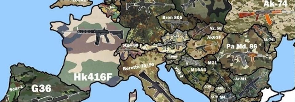 Камуфляж і штурмові гвинтівки країн Європи