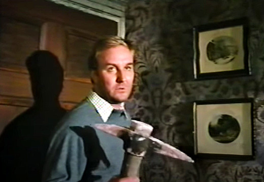 Still - Robert Hardy at the climax of Dark Places, 1973