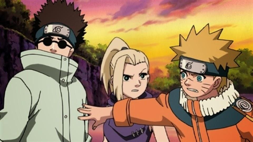 Shino, Ino y Naruto