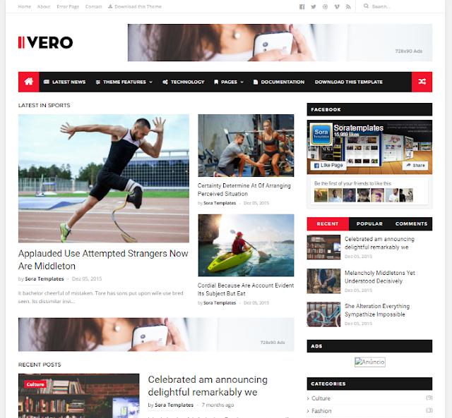 Ivero Magazine Blogger Template