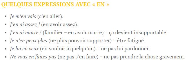 Zaimek en - wyrażenia 2 - Francuski przy kawie