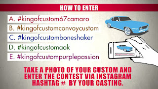 KING OF CUSTOMS HOW TO ENTER HASHTAG