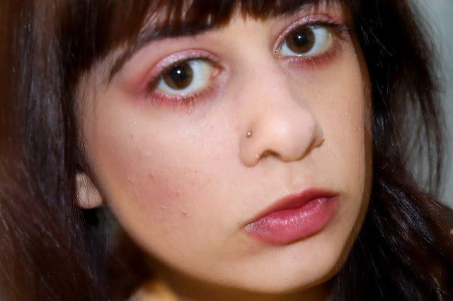 Laura's final makeup look closeup