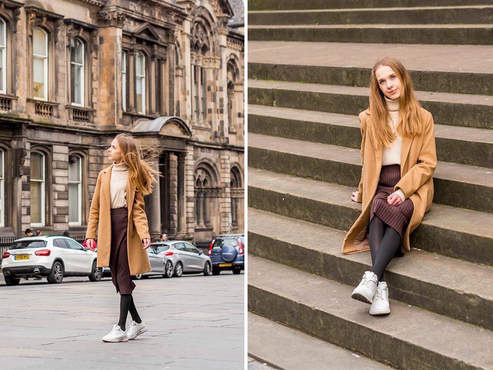 Minimal chic Scandinavian streetstyle outfit, warm brown tones - Minimalistinen skandinaavinen syyasasu, lämpimät ruskean sävyt