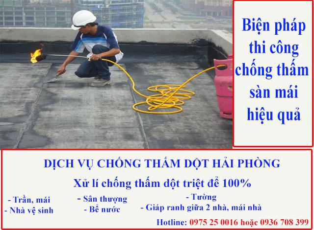 Sơn chống thấm tại Hải Phòng 0975 25 0016 sẵn sàng nhận chống thấm tất ca các vị trí: tường, sân thượng, sàn mái, nhà vệ sinh